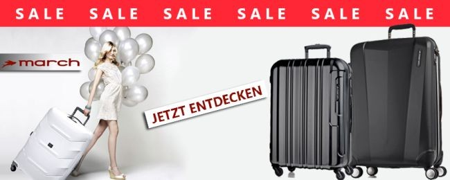 March Koffer Sale