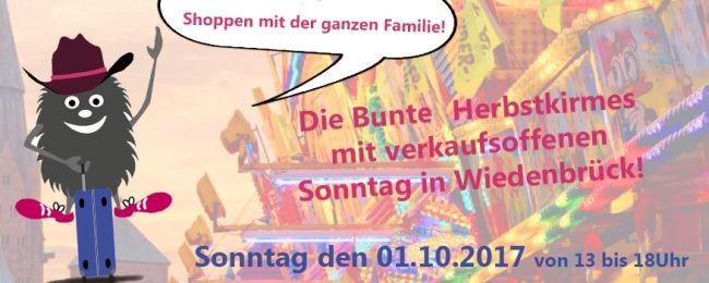 Herbstkirmes Wiedenbrück - Verkaufsoffener Sonntag
