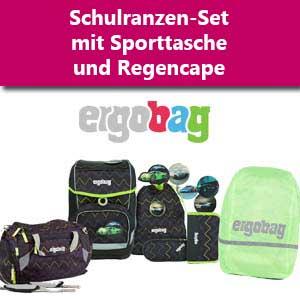 Ergobag Set mit Sporttasche und Regenhülle