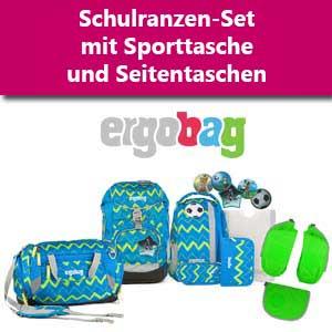 Ergobag Set mit Sporttasche und Seitentasche